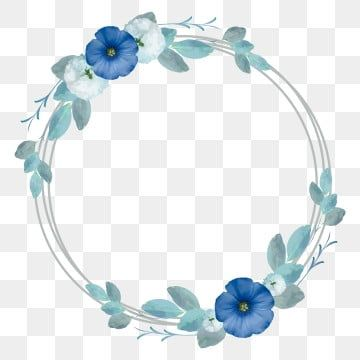 Cirrcle Frames With Elegant Blue Flowers Vector Image Blue Clipart Art Beautiful Png And Vector With Transparent Background For Free Download Flower Frame Blue Flowers Love Frames