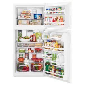 Maytag 30 In W 18 Cu Ft Top Freezer Refrigerator In White