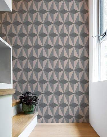 Diamond Grey Wall Panels Self Adhesive Eco Friendly Removable Fabric Wallpaper Alternative From Blik Design By Patterned Wall Tiles Grey Walls Wall Panels