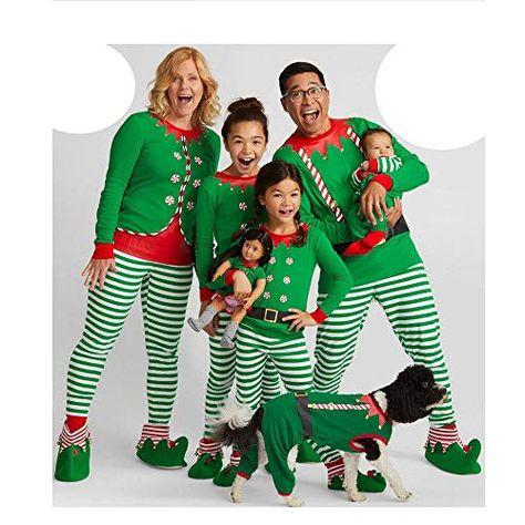 Matching Family Pajamas PJS Sets Christmas Sleepwear Stripe Print Homewear Nightwear  Boys Girls Kids Pajama Set Outfit 245b92976