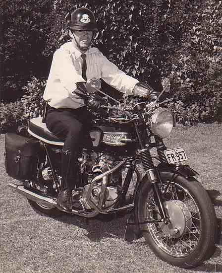 1966 Triumph 650 Nsw Police Motorcycle Australia Triumph