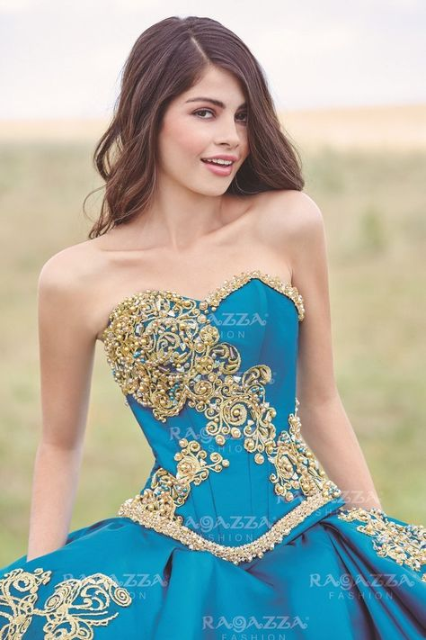 Ragazza Fashion Quinceanera Gown. Colors: Blue Jade, Royal Blue.   #quincestyle #misquinces #quincelebrations #morileedress #quinceaneradress #ombredress #fashion #style #outfit #fashionoftheday