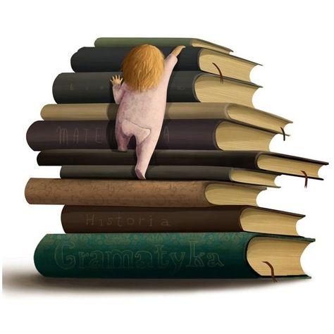 Bücherstapel gezeichnet  Bildergebnis für bücher gezeichnet | Brainstorm | Pinterest