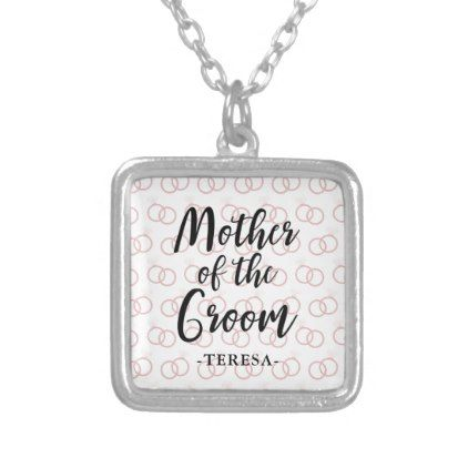 Mother Of The Groom Wedding Ring Pattern And Name Silver Plated