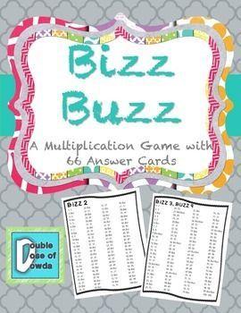 Multiplication Game Bizz Buzz | Math // Multiplication & Division