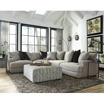 Woodberry Sectional Gray Sectional Living Room Farm House Living Room Modern Furniture Living Room