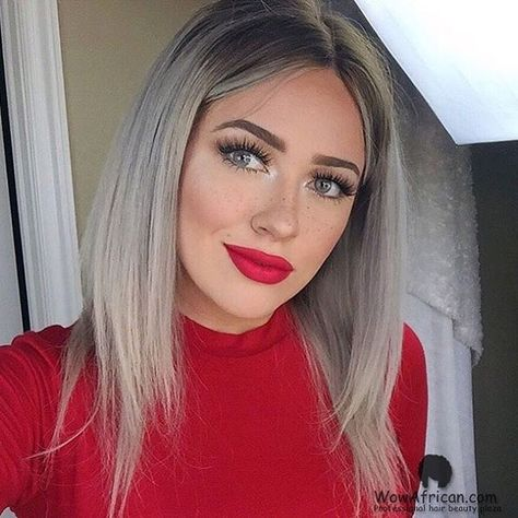 #wowafricanhair #ciarabob 🎀👑🎀 How do you like this fashion grey bob, girls? It is Cirar blonde wig, colored and styled by talented girl @itssteephh ✅Wig Code: CLW26 ✅Hair Info : Ciara Ombre Brazilian hair lace wig \ ✅Length:12in  Buy Now 👉🏾👉🏾👉🏾www.wowafrican.com #blondehair #virginhair #brazilianhair#cutewigs #bobstyle #nicehair#wowafrican #humanhair #lacewig