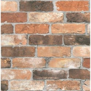 Distressed Brick Peel And Stick Wallpaper In Red By Nextwall Brick Wallpaper Peel And Stick Red Brick Wallpaper Brick Wallpaper