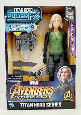 Hasbro Marvel Avengers-INFINITY WAR Black Widow Titan Hero Power FX * Nouveau