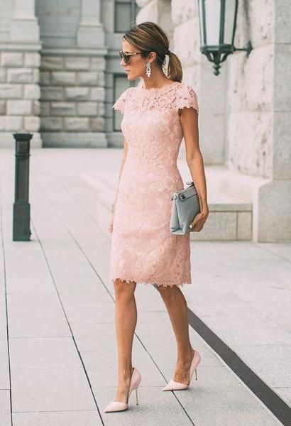 Mother Of The Bride Dress Custom Dress Blush Lace Dress Lace Pink Dress Blush Pink Lace Dress