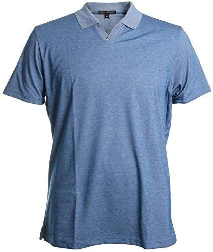 Enjoy exclusive for Robert Barakett Casey Short Sleeve Johnny Collar Polo Shirt Spring Blue Size XL online