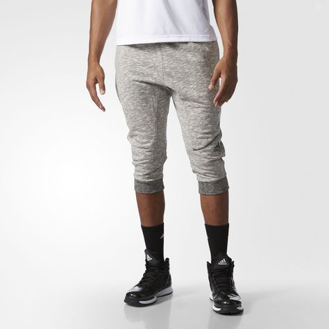 adidas Mens Basketball Cross Up 3//4 Pants