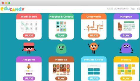 Educandy Es Una Nueva Plataforma Gratuita Para Crear Juegos Educativos Fácilmente Sopas De Letras Crucigr Jelly Bean Candy Jelly Sweet Interactive Activities