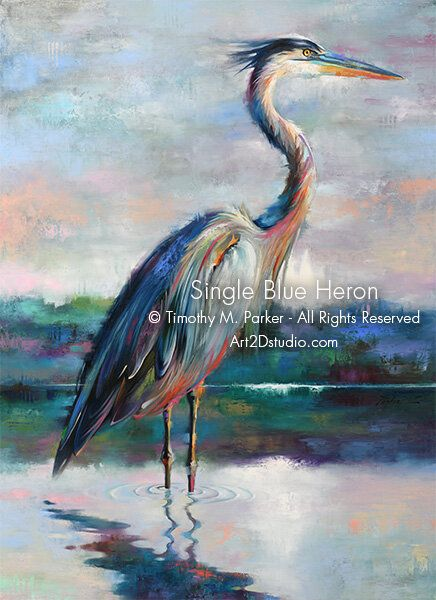 Naples Fl Bird Art Tropical Bird Paintings Blue Heron Art Egrets Modern Wall Art Coastal Art Art2d Gallery Naples Fl Contemporary Fine Art Prints Mod In 2021 Heron
