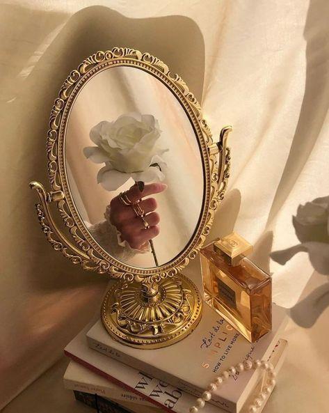 Aesthetic Wallpaper   Beige Aesthetic   Brown Aesthetic   Mirror   Fantasy   Rose   White Rose   Love   Vintage   Aesthetic Vibes