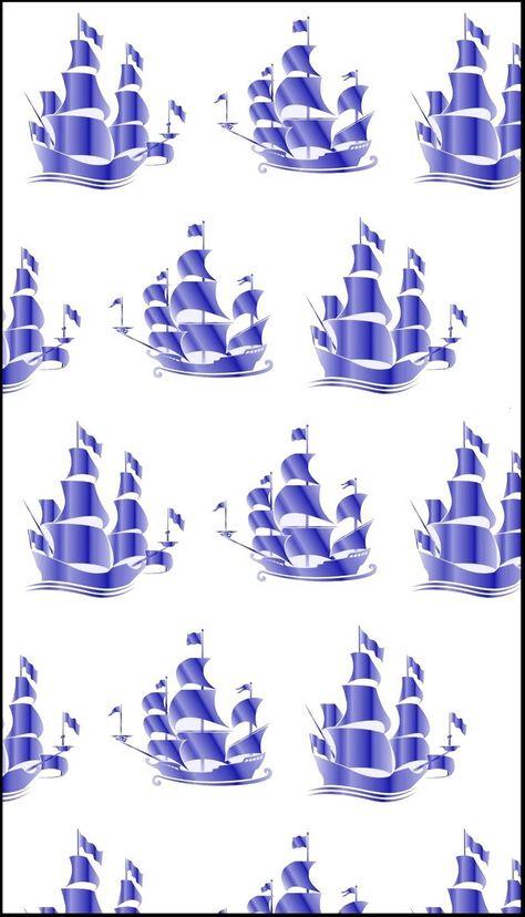 Tissu Au Metre Ameublement Bateau Motif Marin Rideau Bleu Coussin