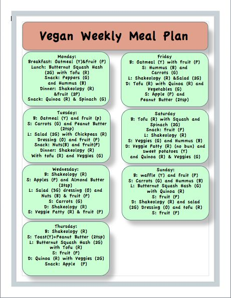 Best Images About Vegan Meal Plan On   Weekly Meal