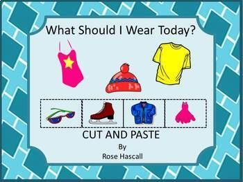 What Should I Wear Today Seasons of the Year ELA Math Cut and Paste Activities
