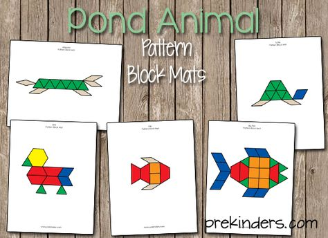17 best images about Preschool - Ponds on Pinterest Activities - pattern block template