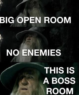 Big Open Room No Enemies This Is A Boss Room Ifunny Enemy Popular Memes Boss