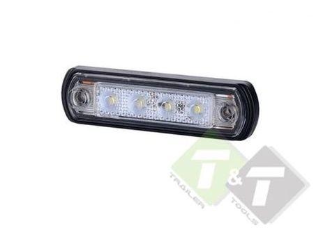 Zijmarkeringslamp Contourlamp Wit Led Langwerpig Plat 12 Tot 24 Volt Horpol Paardentrailer Led Werklampen