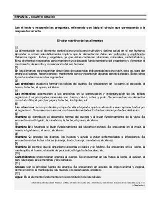 CUADERNILLO PARA FORTALECER LA COMPRENSIÓN LECTORA (4° GRADO ...