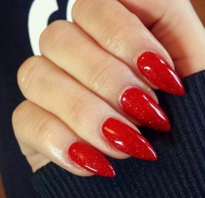 Nails Stiletto Matte Red Colour 44 New Ideas Nails With Images