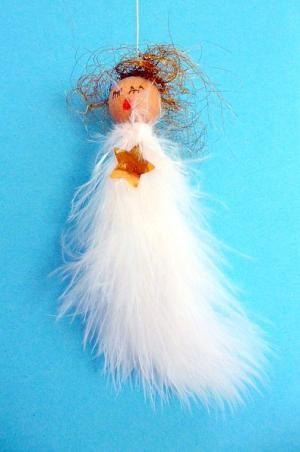 Engel Aus Federn Und Holzperlen Weihnachten Basteln
