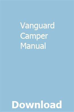 Vanguard Camper Manual   rainabobu   Repair manuals, New