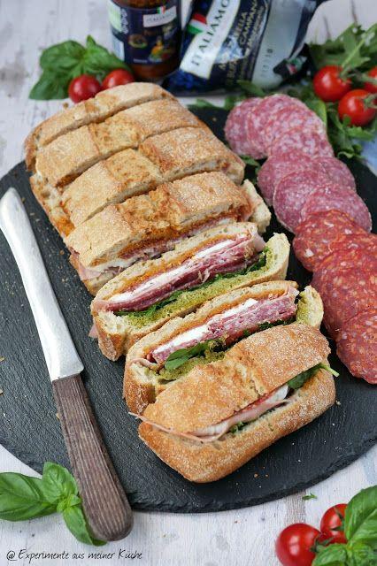 Italienisches Sandwich in 2020 | Fingerfood kalt, Fingerfood ...