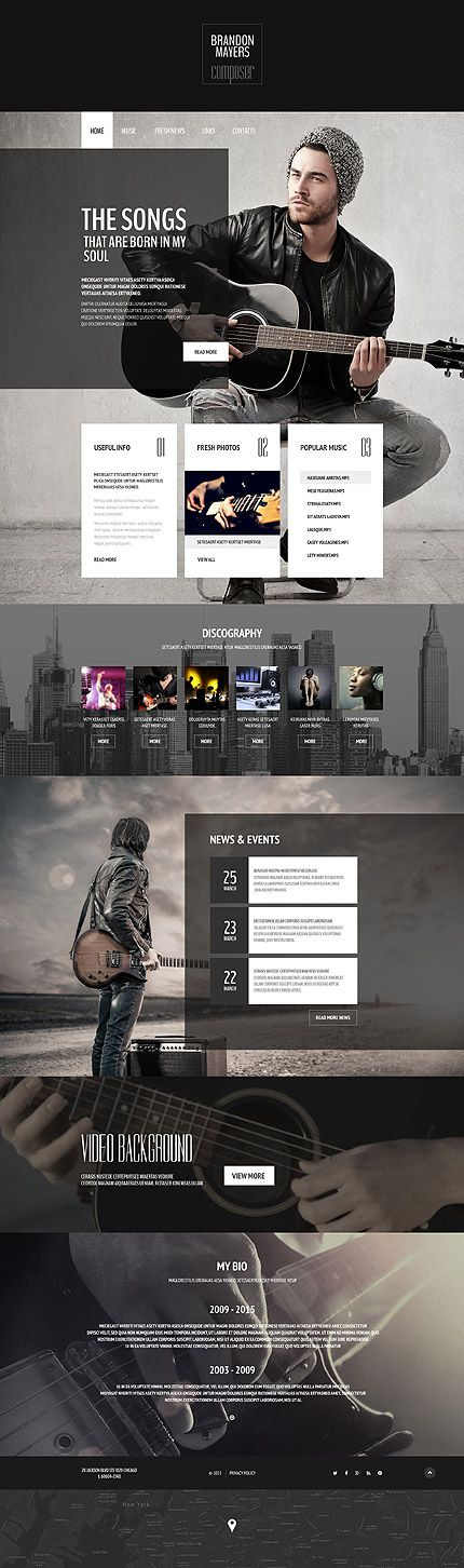 Music Composer Portfolio #website #business #responsive | UI UX ...