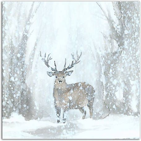 Designs Direct Deer In Winter Wonderland 20 In X 20 In Canvas Wall Art 4149 Y At Tractor Supply Co Christmas Canvas Art Art Graphic Art Print