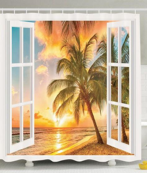 Personalized Decor Sea Ocean For Bathroom Decorations Theme Palm