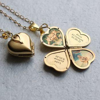 Stainless Steel Locket Round Rose Gold Locket Necklace Flower girl gift Memorial Locket New Mom Gift Photo Locket