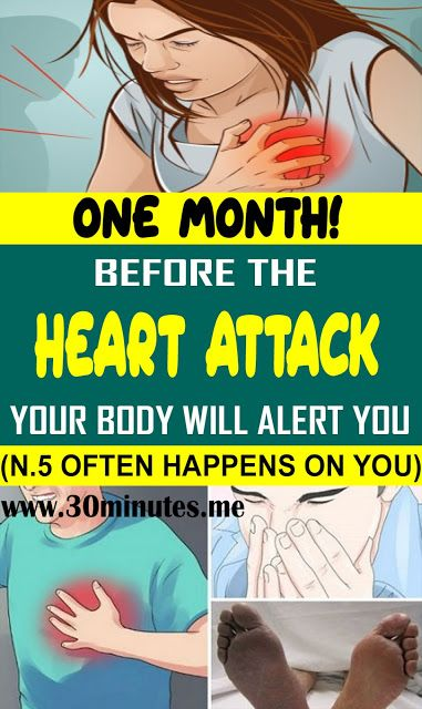 One Month Before A Heart Attack Your Body Will Alert You Here Are 6 Symptoms!!!