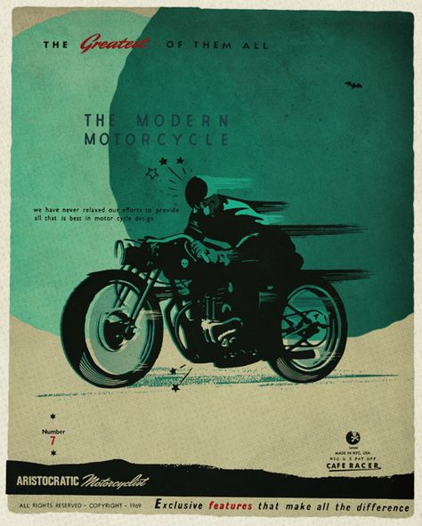 Motorcycle Motoconfort Pneus Hutchinson Tires Bike Vintage Poster Repro FREE S//H