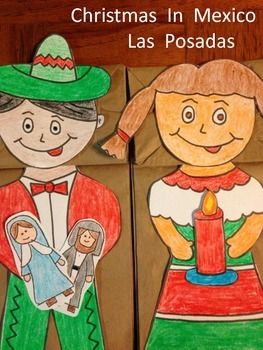 Kids love learning about the way others celebrate Christmas. This download includes facts about Christmas in Mexico (Las Posadas). And puppet pattern pieces for girl and boy. Also included are Mary and Joseph and candle for kids to choose which they want their puppet to carry on The Posada.