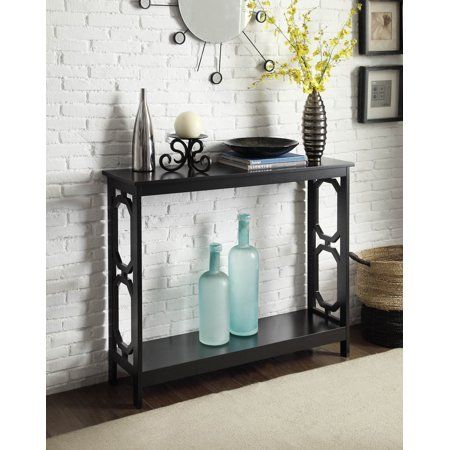 Home With Images Black Console Table Convenience Concepts