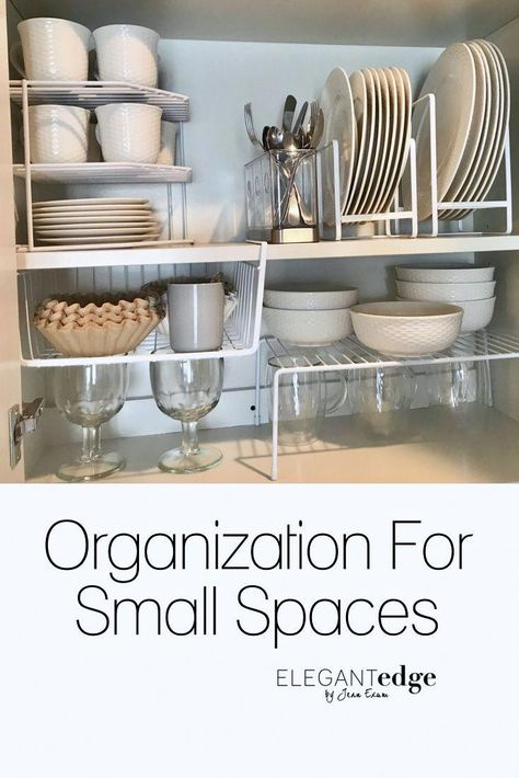 Homeware organization for small spaces and optimizing vertical space. I spent d… Homeware organization for small spaces and optimizing vertical space. I spent days scouring the internet and ordering different homeware organizational pieces for my parent'
