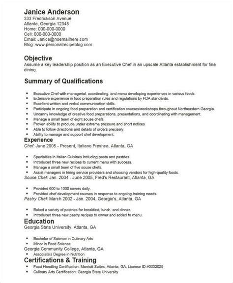 Executive Chef Resume Cover Letter - 100+ Cover Letter Samples