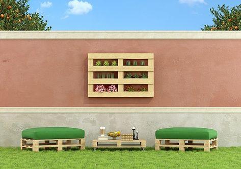 muebles jardin con palets | Diseño de jardines | Pinterest ...