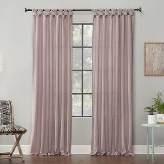 Archaeo Washed Cotton Twist Tab Single Curtain Panel 52 X 63 White Panel Curtains Curtains Tab Curtains