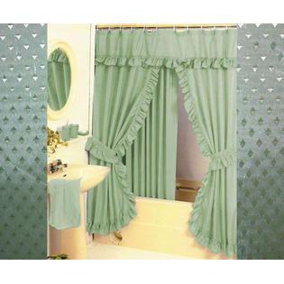 Terrific Hunter Green Shower Curtains