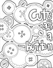 Cute As A Button Baby Coloring Pages Coloring Pages Adult