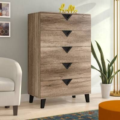 Elio 6 Drawer 53 19 W 5 Drawer Chest Wrought Drawers Narrow chest of drawers for hallway