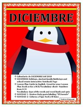 December No Prep Bundle- Spanish Interactive Activities