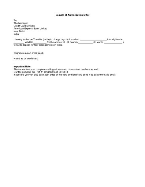 Simple Authorization Letter Format Best Template Collection Sample