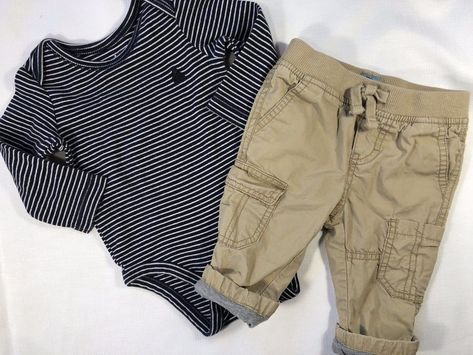 Boys' Clothing (newborn-5t) Baby Gap Boys 6-12 Months Khaki Pants Baby & Toddler Clothing