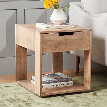 Pure Storage Side Table Whitewash Side Tables Bedroom Living