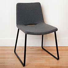 Wool Felt Black Metal Legs Dining Chair Vintage Furniture North Vancouver Mcm Van Bc Handmade Local Home Decor Pinterest Milling